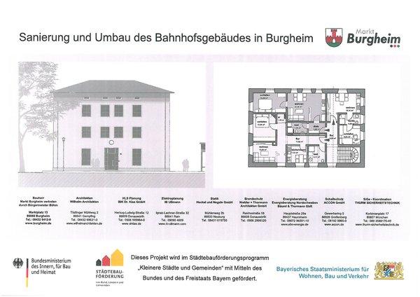 Sozialer Wohnungsbau - Bahnhof, Bautafel